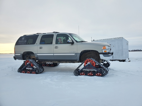 Ice Fishing track truck