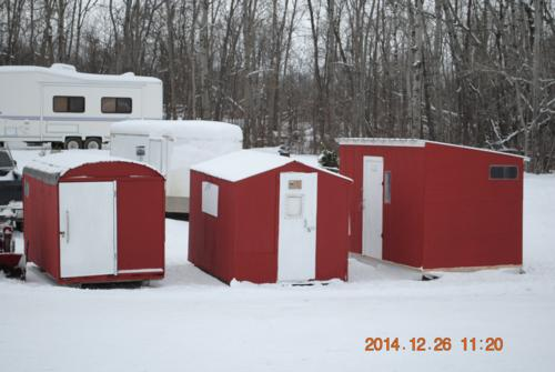Ice fishing shacks ready to hit the ice!